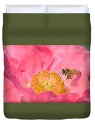 Poppies And Bumble Bee Duvet Cover