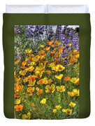 Poppies And Lupines Duvet Cover