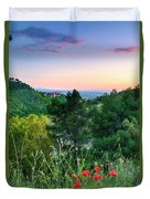 Poppies And The Alhambra Palace Duvet Cover