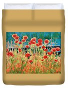 Poppies And Traverses 2 Duvet Cover