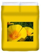 Poppies Art Poppy Flowers 4 Golden Orange California Poppies Duvet Cover