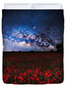 Poppies At Night Duvet Cover