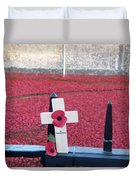 Poppies At Tower Of London Duvet Cover