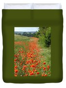 Poppies Awash Duvet Cover