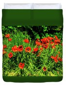 Poppies Flowerbed Duvet Cover