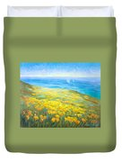 Poppies Greeting Whales Duvet Cover