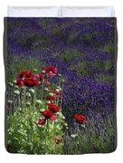 Poppies In Lavender Duvet Cover