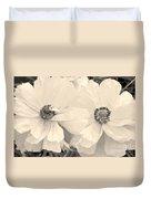 Poppies In Monochrome Duvet Cover