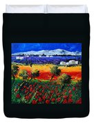 Poppies In Provence Duvet Cover