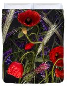 Poppies In The Corn Duvet Cover