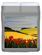 Poppies In The Hills Duvet Cover