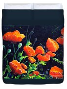 Poppies In The Light Duvet Cover
