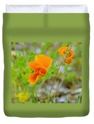 Poppies In The Wind Duvet Cover
