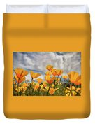 Poppies In The Wind Part Two  Duvet Cover