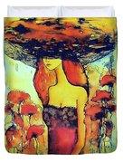 Poppies Lady Duvet Cover