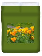 Poppies Meadow Summer Poppy Flowers 18 Wildflowers Poppies Baslee Troutman Duvet Cover