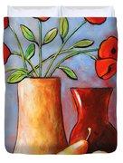 Poppies N Pears Duvet Cover