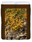 Poppies On The Rocks Duvet Cover