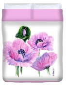 Oriental Poppies Duvet Cover