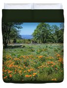 Poppies With A View At Oak Glen Duvet Cover