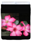 Poppin Pink Flowers Duvet Cover