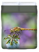 Poppy And The Dragonfly Duvet Cover