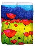 Poppy Cluster Duvet Cover