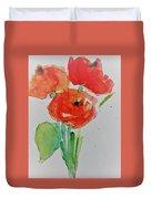 Poppy Flowers 1 Duvet Cover