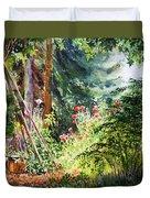Poppy Garden Landscape Duvet Cover
