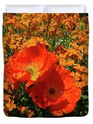 Poppy Glories Duvet Cover