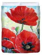 Poppy Love Floral Scene Duvet Cover