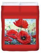 Poppy Love Floral Scene Duvet Cover