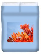 Popular Autumn Art Red Orange Fall Tree Nature Baslee Troutman Duvet Cover