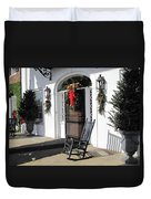 Porch At Boone Hall Plantation Charleston Sc Duvet Cover