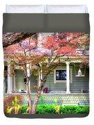 Porch Birdhouse Duvet Cover