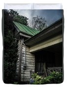 Porch Flowers Duvet Cover