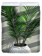 Porch Plant Duvet Cover