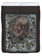 Porcupine In Aspen Duvet Cover