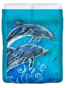 Porpoise Pair - Close Up Duvet Cover