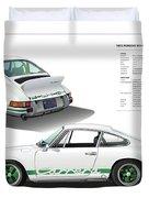 Porsche 911 Carrera Rs Illustration Duvet Cover