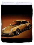 Porsche 911 Turbo 1976 Painting Duvet Cover