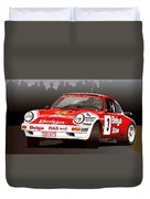 Porsche 911 Rally Illustration Duvet Cover