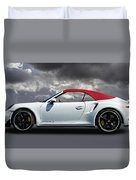 Porsche 911 Turbo S With Clouds Duvet Cover