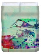 Porsche 911 Watercolor 2 Duvet Cover