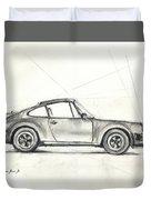 Porsche 930 Turbo Duvet Cover by Juan Bosco