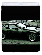 Porsche 944 On A Hot Afternoon Duvet Cover