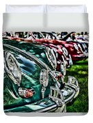 Porsche Row Duvet Cover
