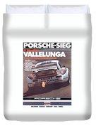 Porsche Vallelunga Vintage Racing Poster Duvet Cover