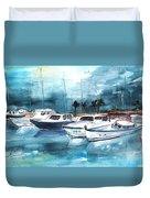 Port Alcudia Harbour 01 Duvet Cover