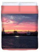 Port Angeles Harbor Thirteen Duvet Cover